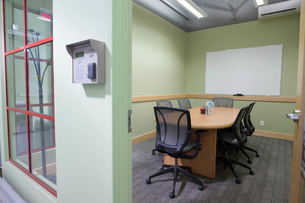 Private meeting space at Apple Self Storage - Toronto Downtown in Toronto, Ontario