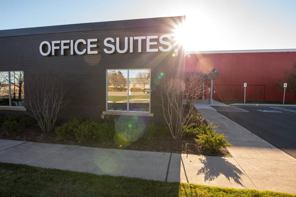 Entrance to our office suites at Apple Self Storage - Oakville in Oakville, Ontario