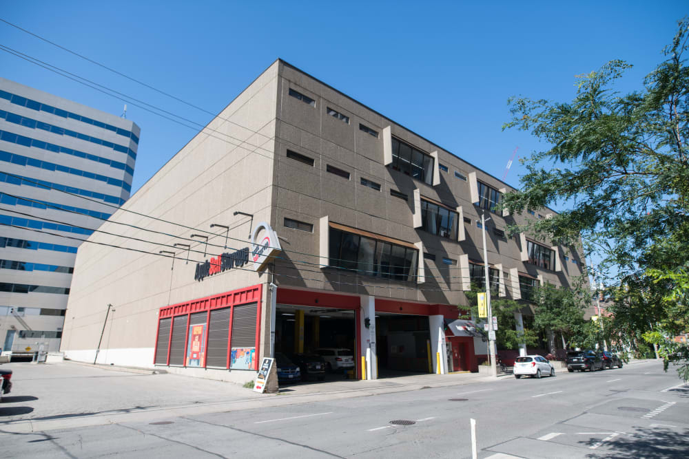 Exterior of our suites building at Apple Self Storage - Toronto Downtown in Toronto, Ontario
