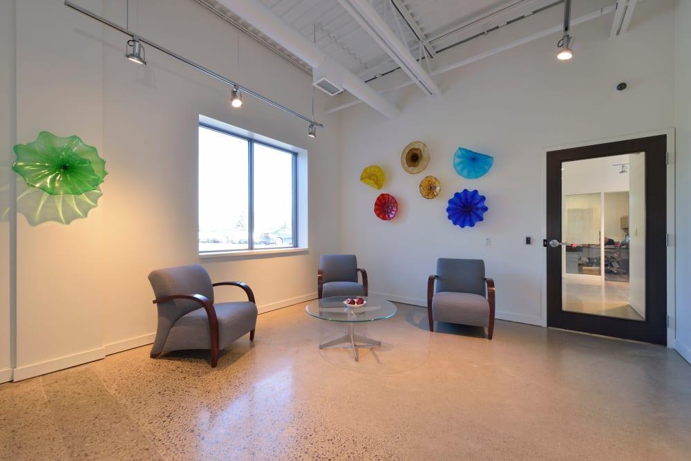 Reception area at Apple Self Storage - Oakville in Oakville, Ontario