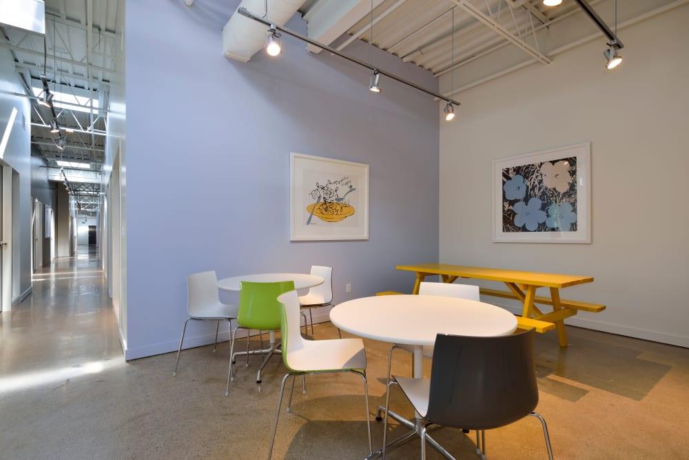 Indoor dining space at Apple Self Storage - Oakville in Oakville, Ontario