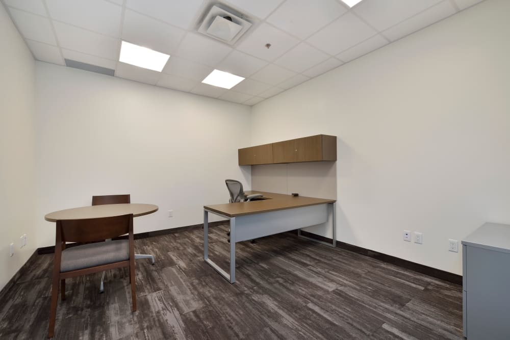 Carpeted, bright office suite at Apple Self Storage - Oakville in Oakville, Ontario