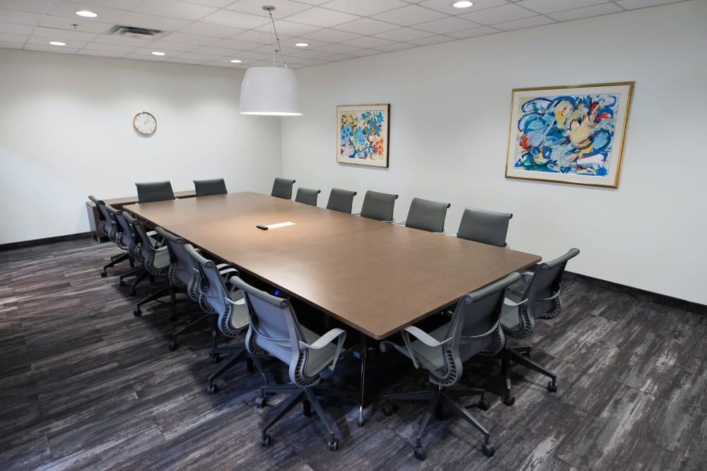 Large conference room at Apple Self Storage - Oakville in Oakville, Ontario