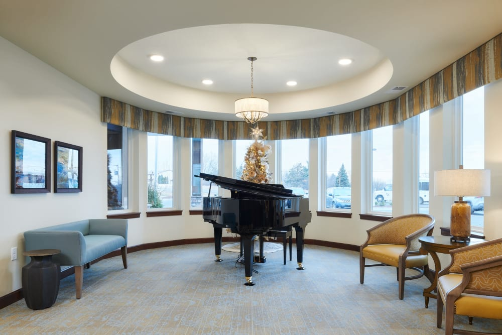 Grand piano at Willows Landing in Monticello, Minnesota