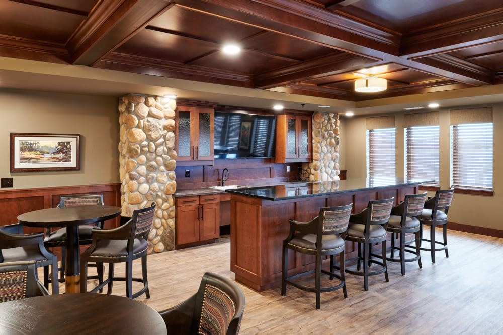 Beautiful dining area at Willows Landing in Monticello, Minnesota