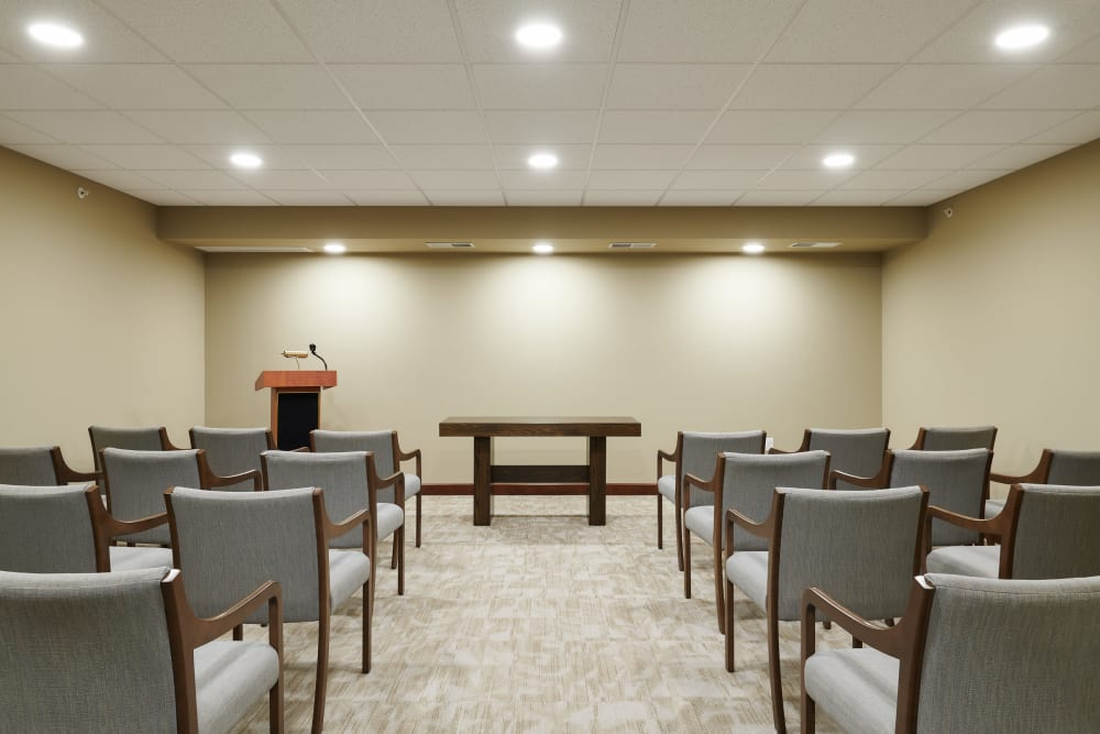 Presentations room at Willows Landing in Monticello, Minnesota