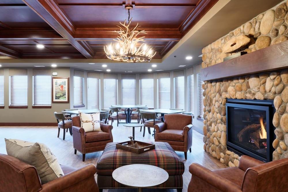 Beautiful lounge at Willows Landing in Monticello, Minnesota