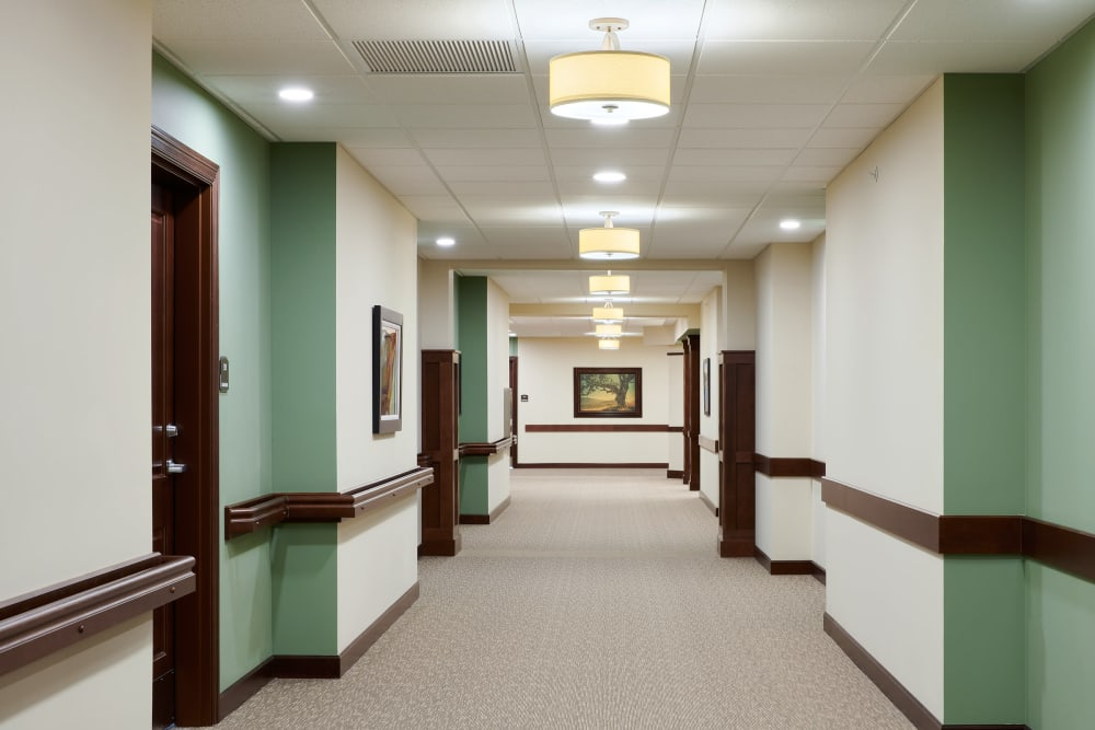Resident hallway at Willows Landing in Monticello, Minnesota
