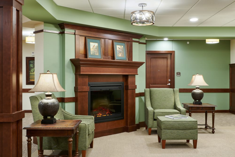 Living room at Willows Landing in Monticello, Minnesota