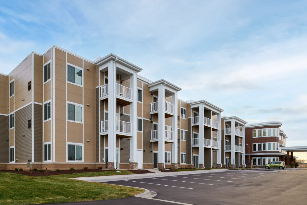 View of the buildings at Willows Landing in Monticello, Minnesota