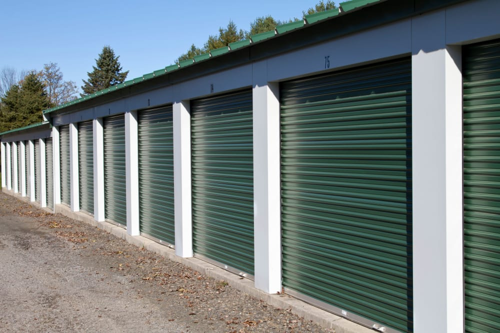Exterior storage units at Monster Self Storage in Winston-Salem, North Carolina