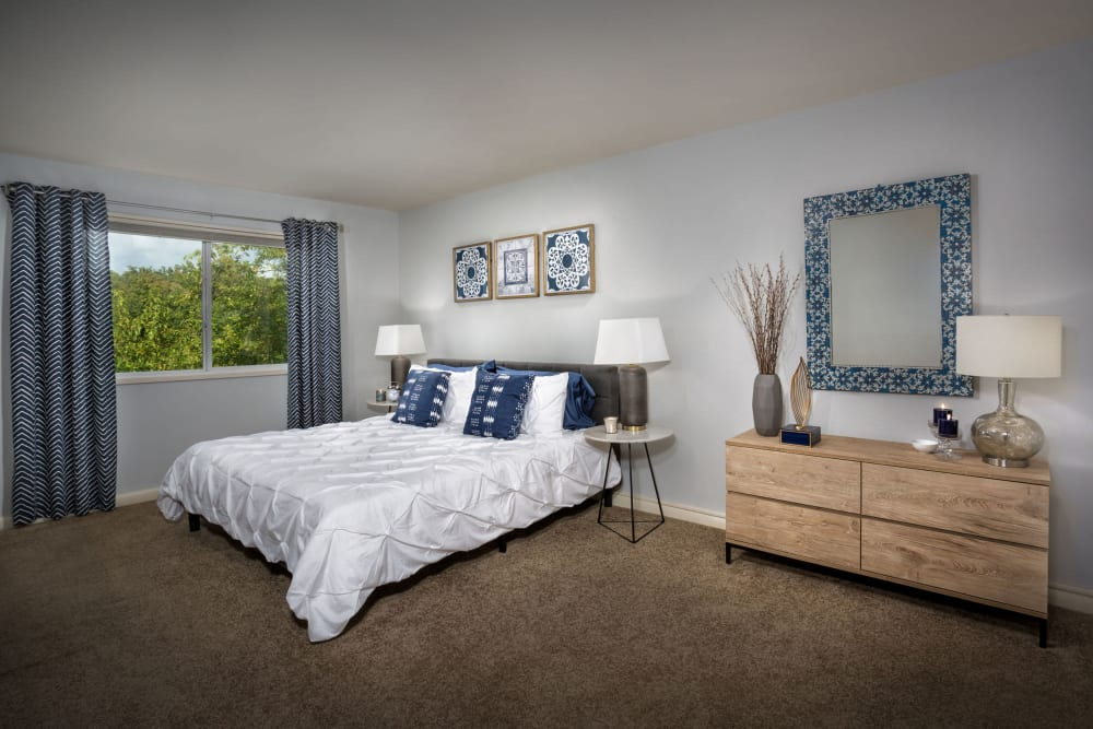 Large bedroom at Admiral Place Apartments in Suitland, Maryland