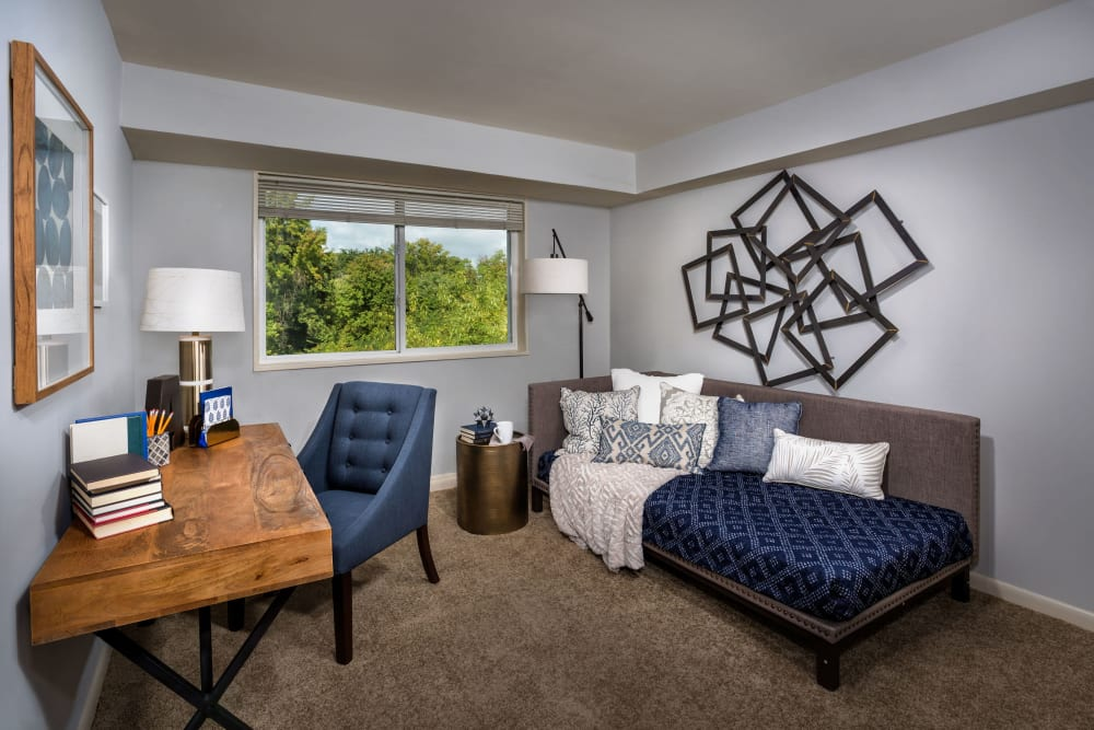 Guest bedroom at Admiral Place Apartments in Suitland, Maryland