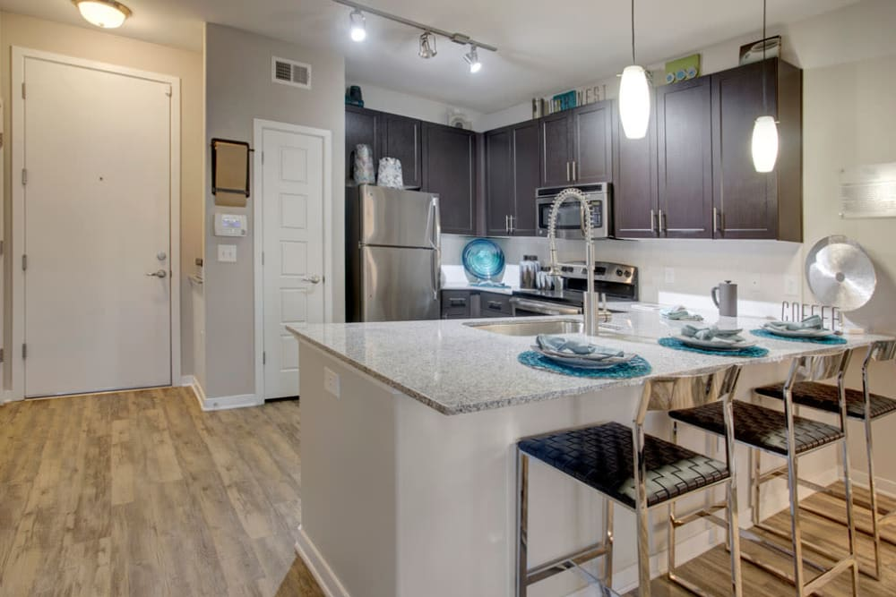 Kitchen at Luxe Scottsdale Apartments in Scottsdale, Arizona
