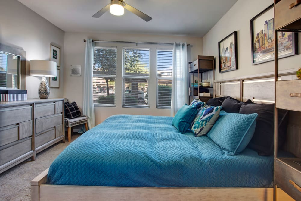 Bedroom at Luxe Scottsdale Apartments in Scottsdale, Arizona
