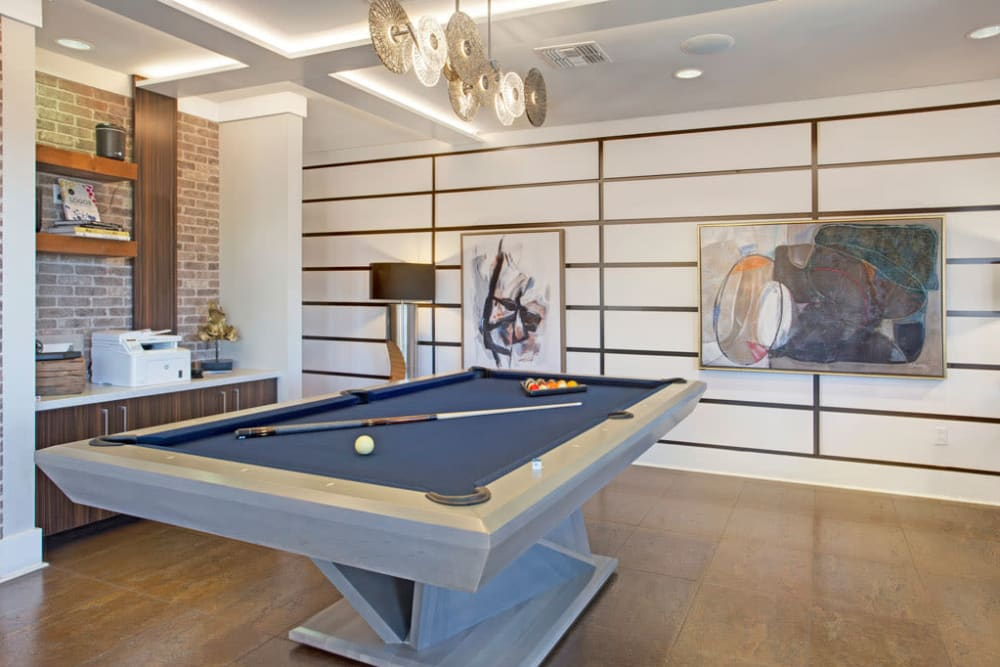 Pool table at Luxe Scottsdale Apartments in Scottsdale, Arizona