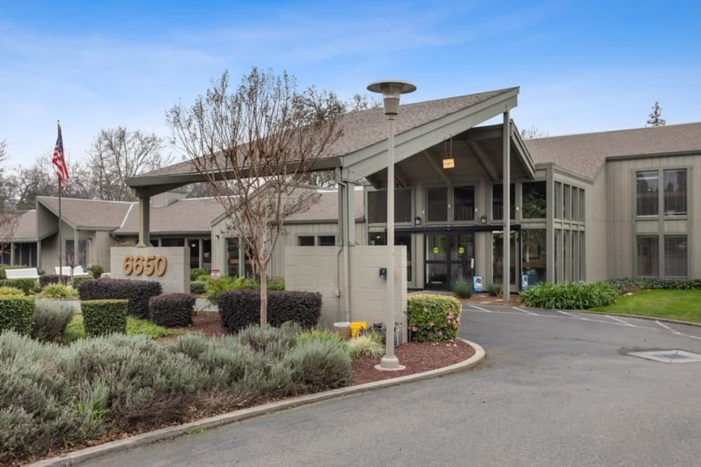 Front entrance at The Crest at Citrus Heights in Citrus Heights, California