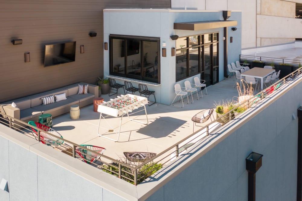 Rooftop Lounge & Entertainment Area at Heritage Plaza in San Antonio, Texas