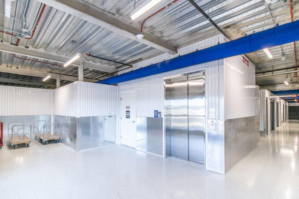 Elevator use at Atlantic Self Storage in Jacksonville, Florida