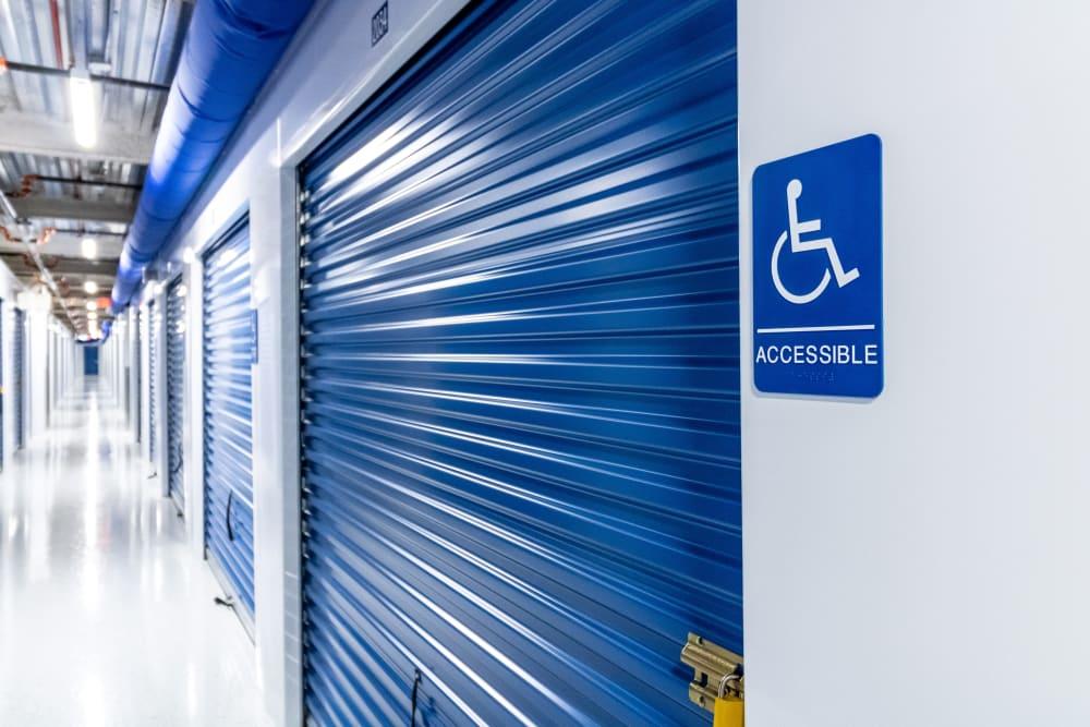 Handicap accessible storage units at Atlantic Self Storage in Jacksonville, Florida