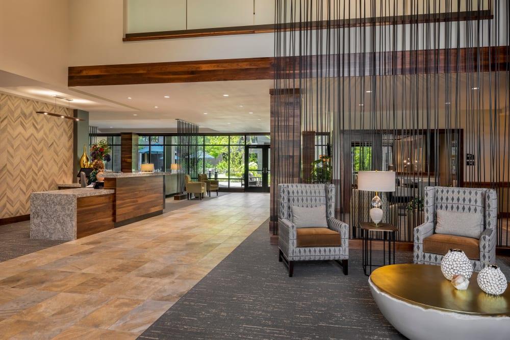 Reception area inside of The Springs at Lake Oswego in Lake Oswego, Oregon