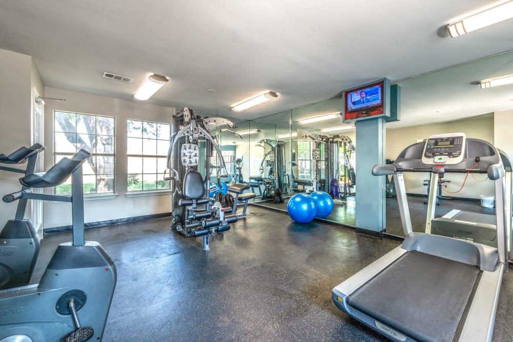 Treadmills at Lane at Towne Crossing in Mesquite, Texas