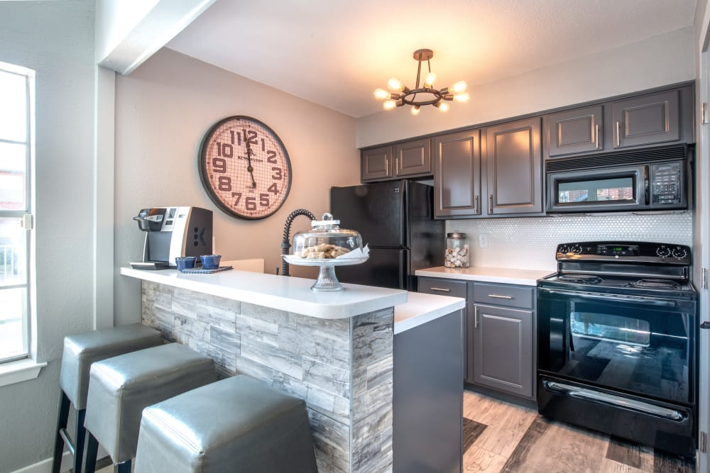 Community kitchen at Lane at Towne Crossing in Mesquite, Texas