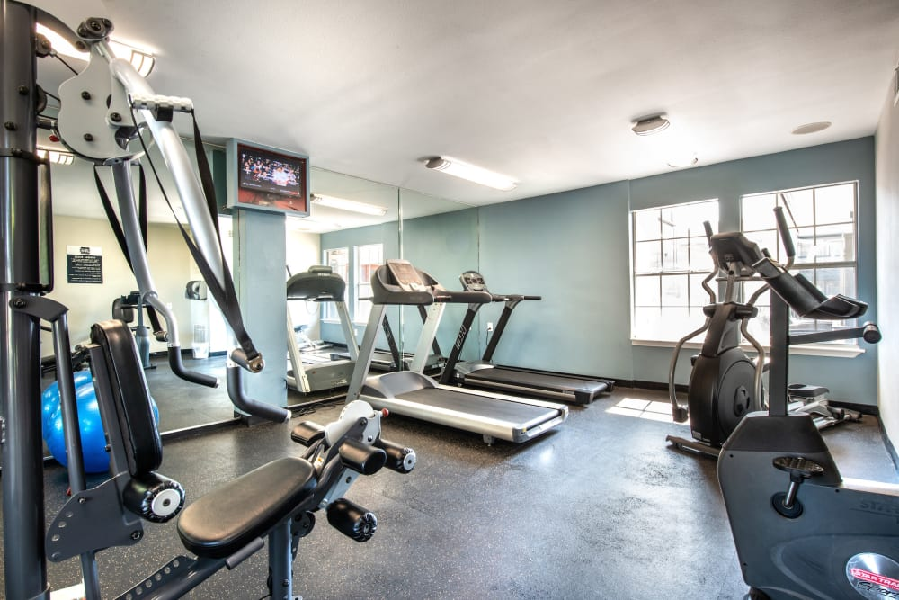 Fitness center at Lane at Towne Crossing in Mesquite, Texas