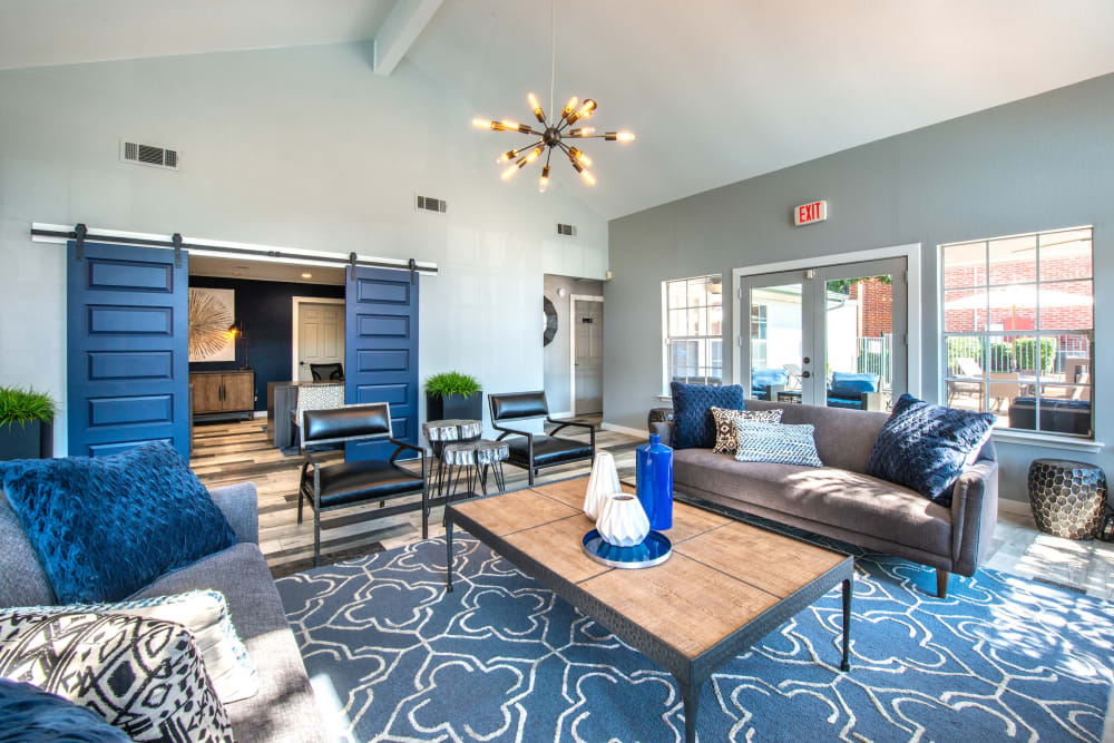 Resident clubhouse at Lane at Towne Crossing in Mesquite, Texas
