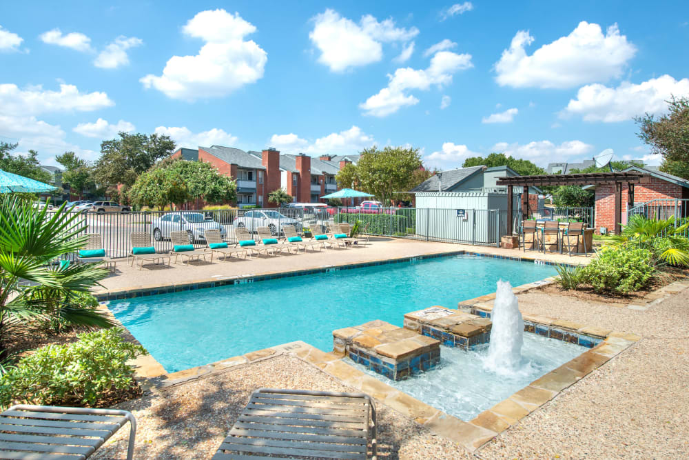 Resort-style swimming pool at Lane at Towne Crossing in Mesquite, Texas