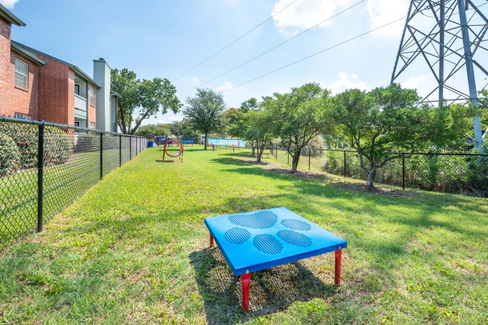 Dog park at Lane at Towne Crossing in Mesquite, Texas