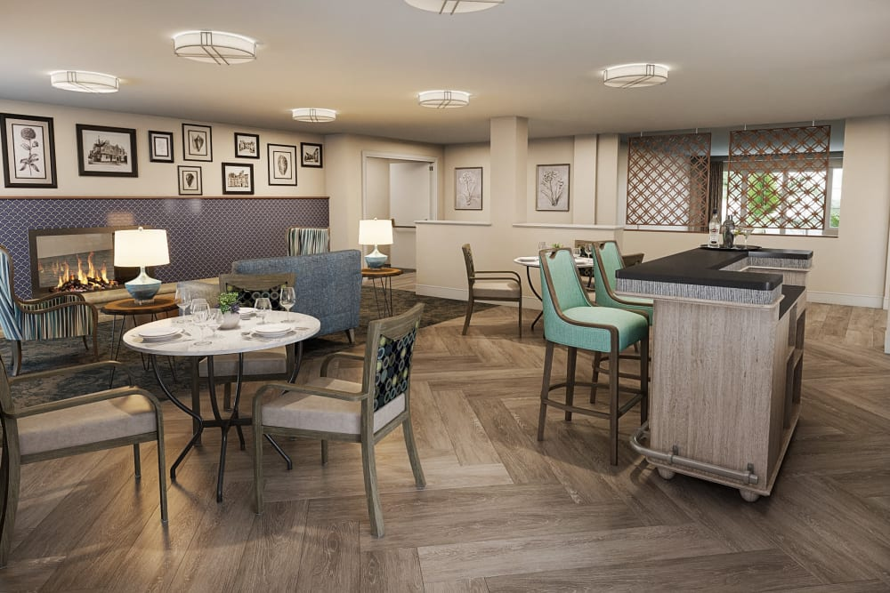 New lounge renderings for The Village Senior Living