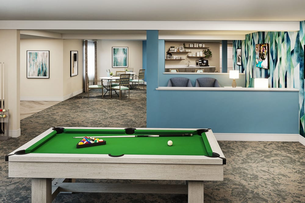 Game room for The Village Senior Living