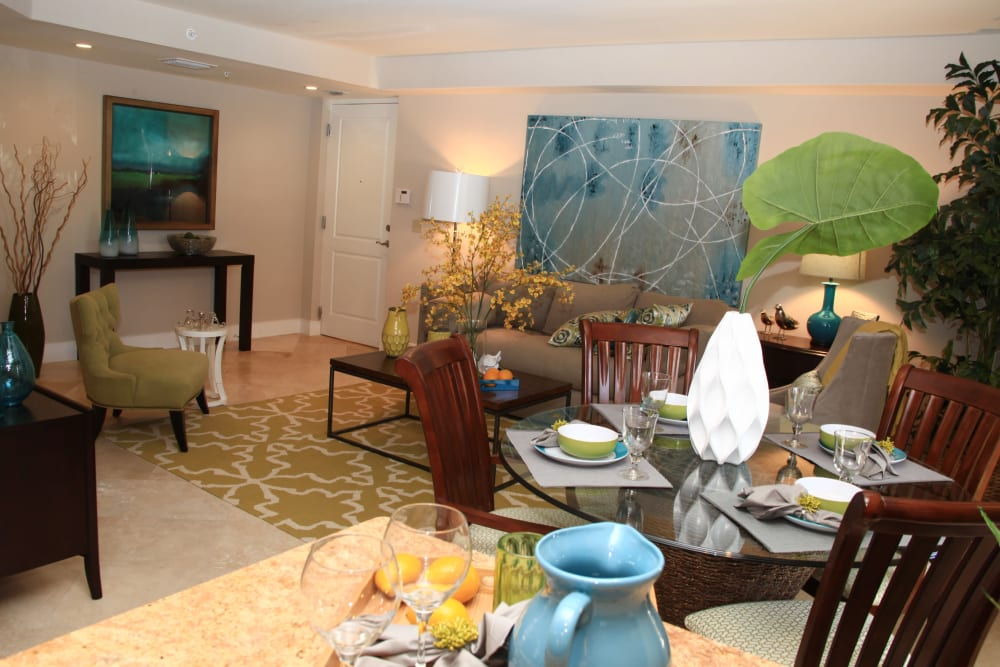 Dining room at The Heritage at Boca Raton in Boca Raton, Florida