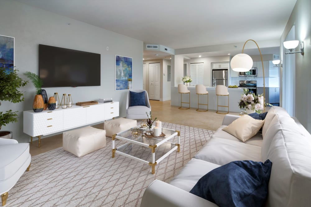 Living room at The Heritage at Boca Raton in Boca Raton, Florida