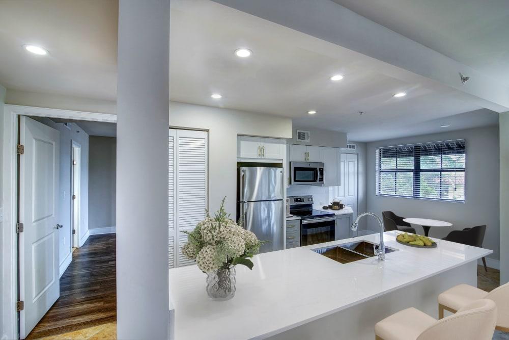 Bright, modern kitchen at The Heritage at Boca Raton in Boca Raton, Florida
