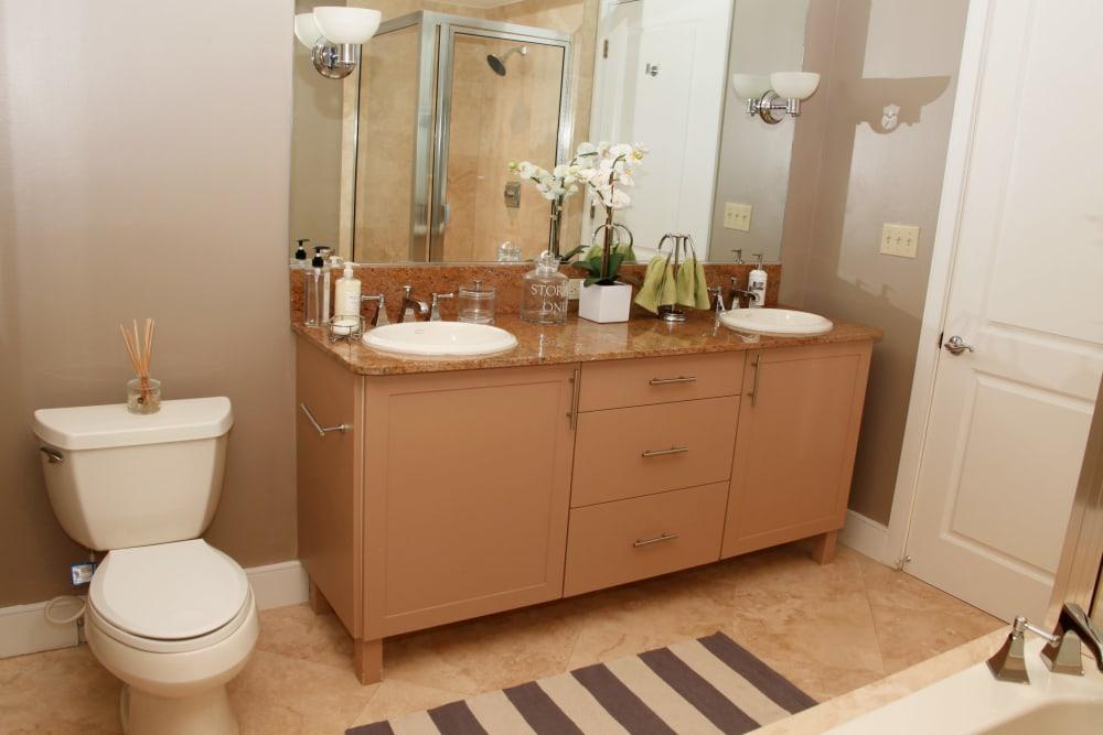 Spacious bathroom at The Heritage at Boca Raton in Boca Raton, Florida
