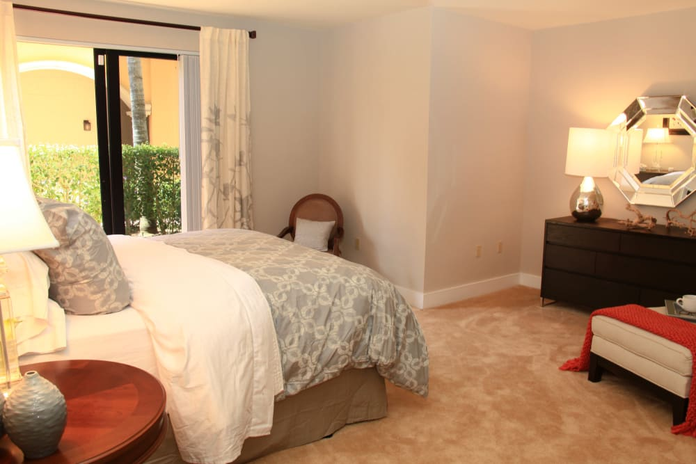 Bedroom with a view at The Heritage at Boca Raton ni Boca Raton, Florida