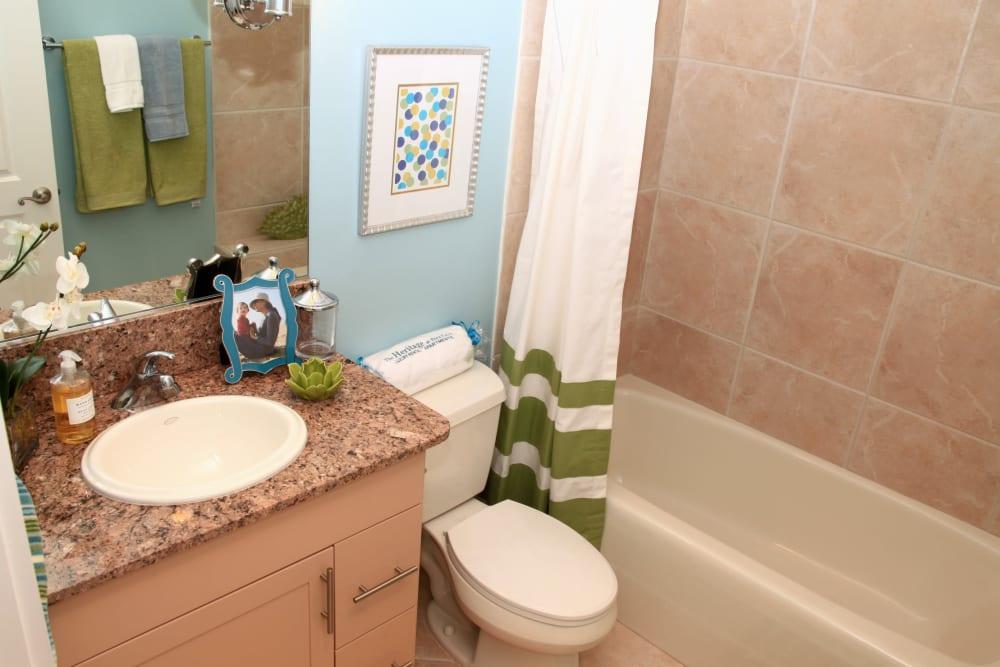Clean bathroom at The Heritage at Boca Raton in Boca Raton, Florida