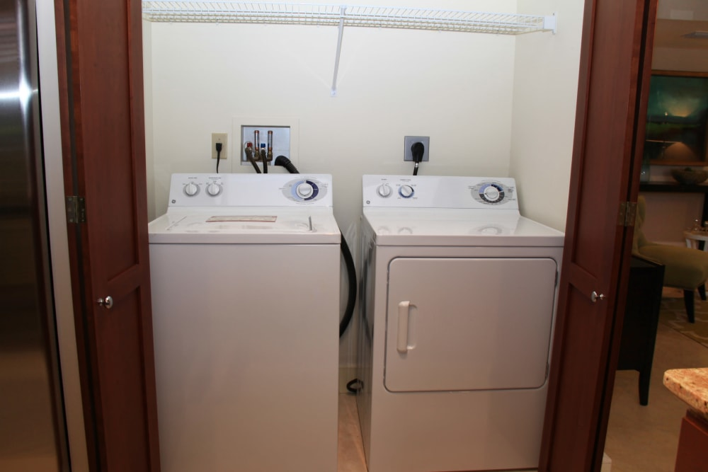 Washer and dryer at The Heritage at Boca Raton in Boca Raton, Florida