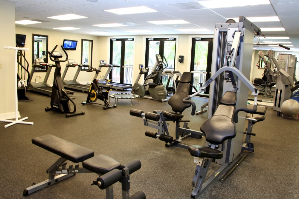 Fitness center at The Heritage at Boca Raton in Boca Raton, Florida
