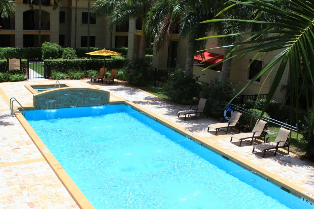 Swimming pool at The Heritage at Boca Raton in Boca Raton, Florida