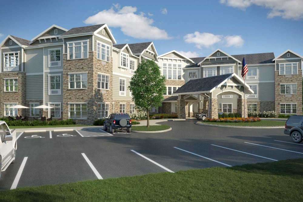 Exterior front entrance at Anthology of Farmington Hills  - Opening Early 2022 in Farmington Hills, Michigan