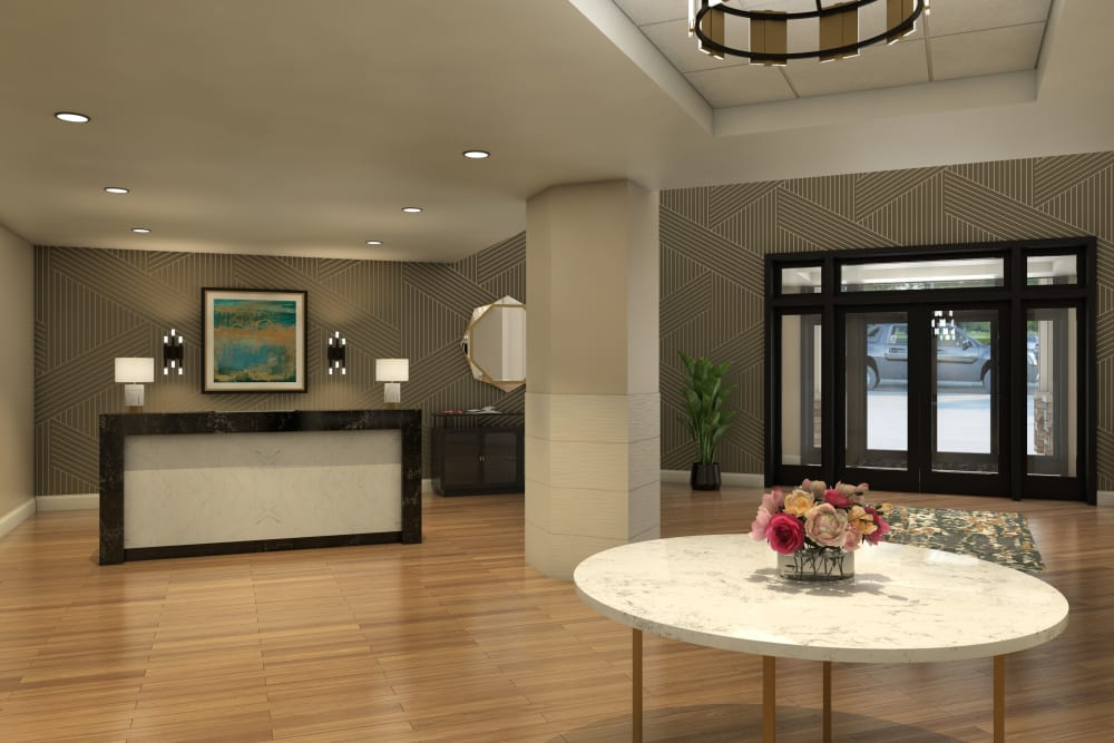 Reception area at Anthology of Farmington Hills  - Opening Early 2022 in Farmington Hills, Michigan