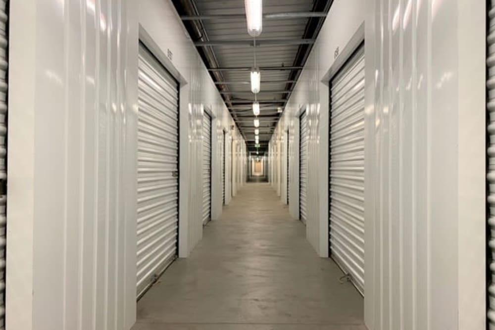 Elevator and hallway at Trojan Storage in Salinas, California
