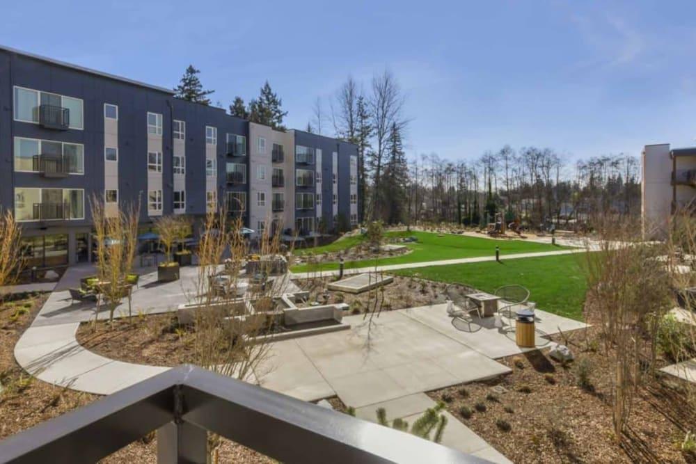 Side view of Trillium Apartments in Edmonds, Washington