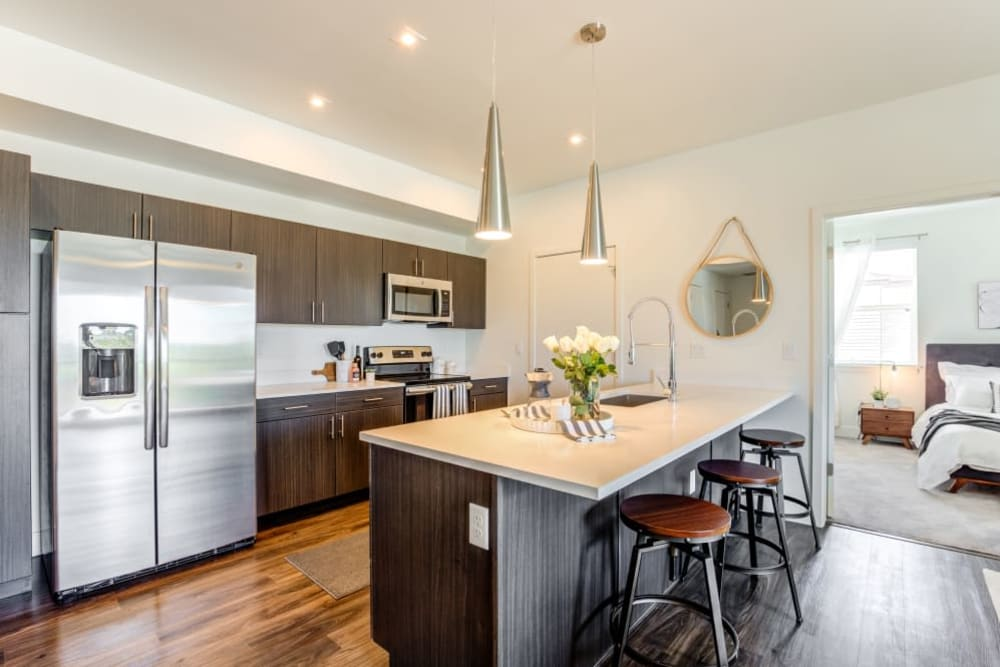 Fully-Equipped Kitchen at The Wyatt Apartments in Fort Collins, Colorado