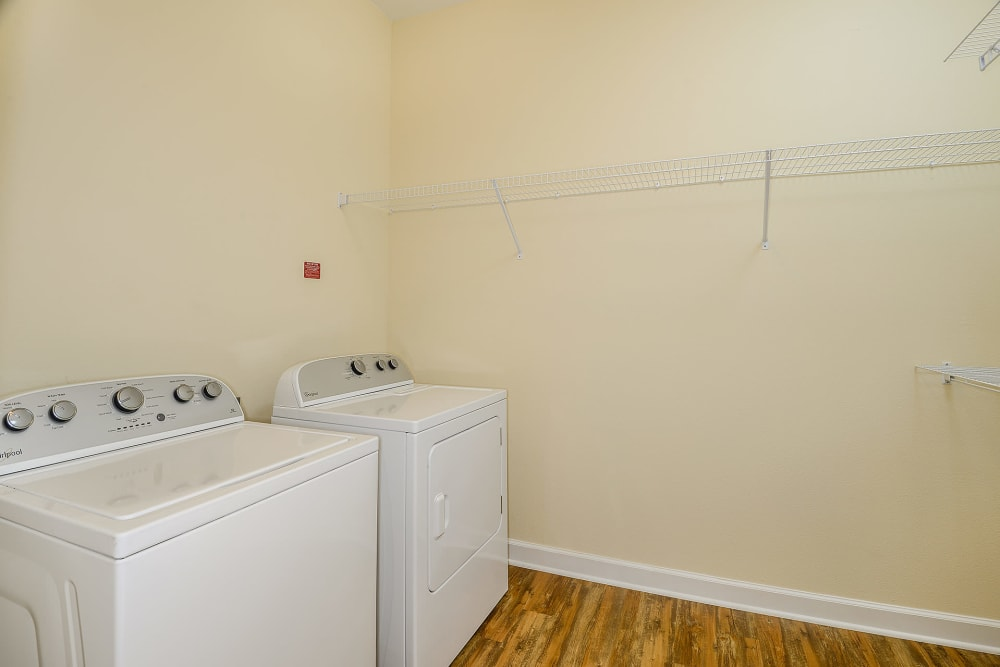 laundry room area at Palm Bay Club in Jacksonville
