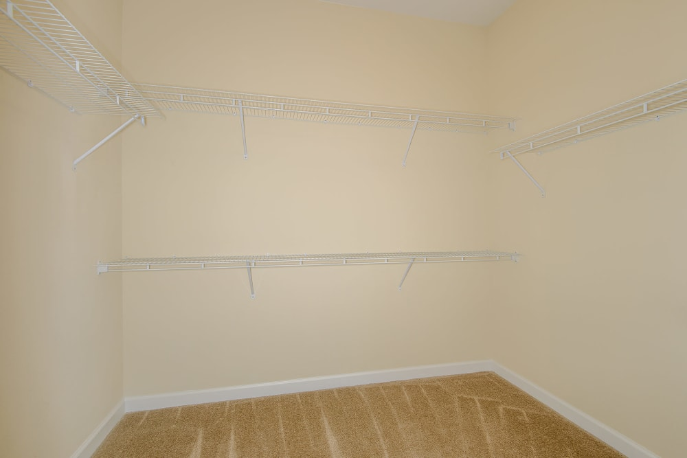walk-in closet at Palm Bay Club in Jacksonville