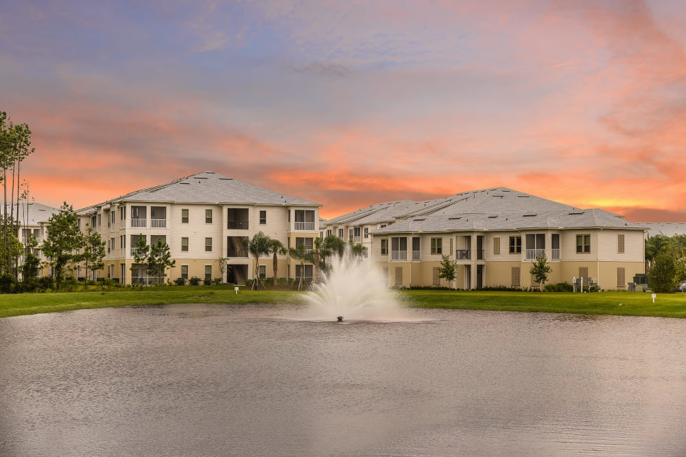 front entrance at Palm Bay Club at Jacksonville